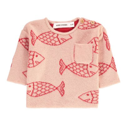 Bobo Choses Fish Wool Jumper With Pocket-listing