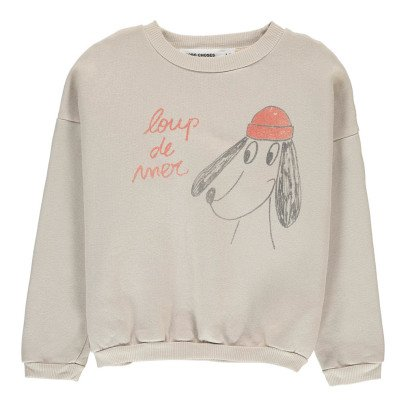 Bobo Choses Organic Cotton Sea Dog Sweatshirt-listing