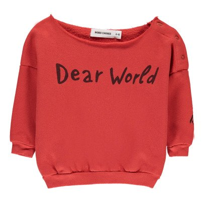 Bobo Choses Felpa Dear World Cotone Bio Bébé-listing