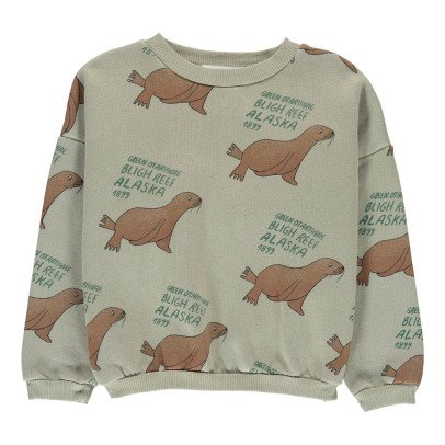 Bobo Choses Organic Cotton Sea Lion Sweatshirt-listing