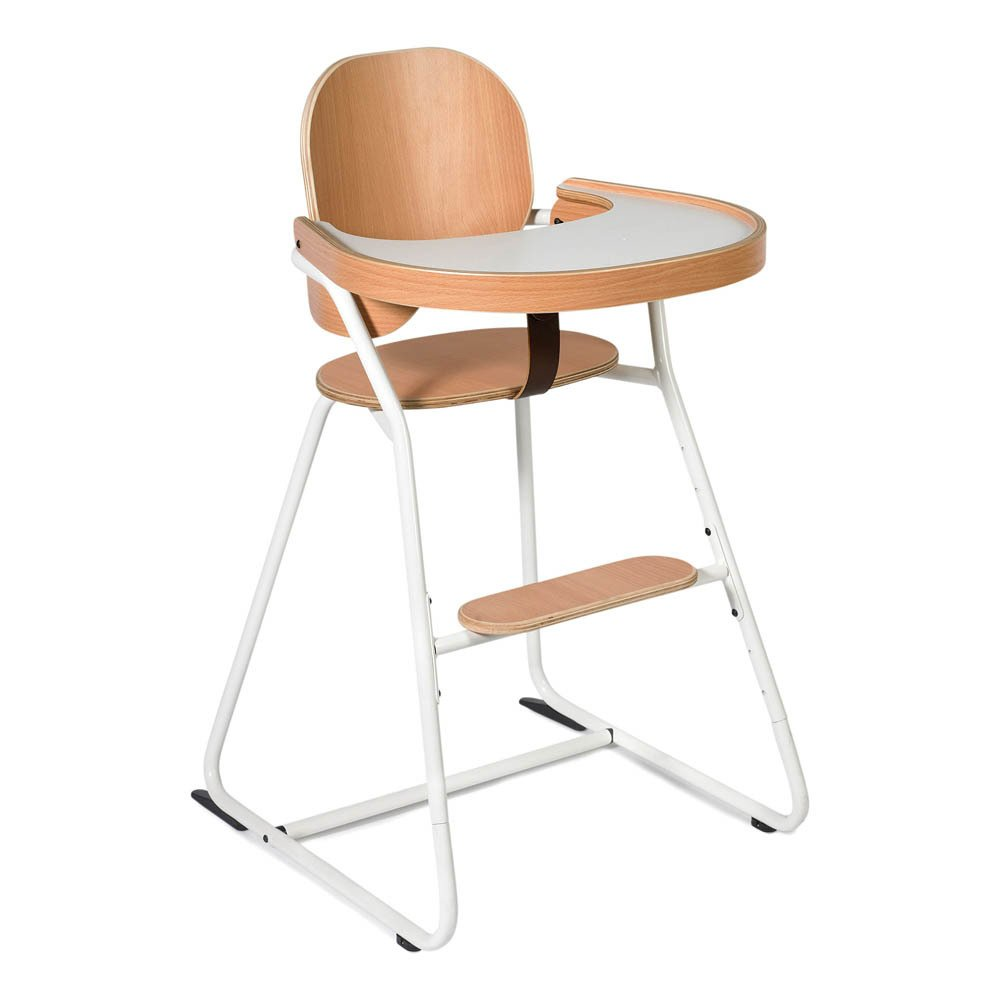 chaise haute volutive avec tablette tibu structure m tal et. Black Bedroom Furniture Sets. Home Design Ideas