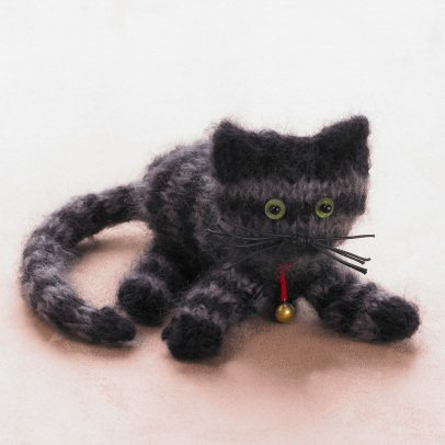 Idées de Saison by La Droguerie Knitted Cat Soft Toy-listing