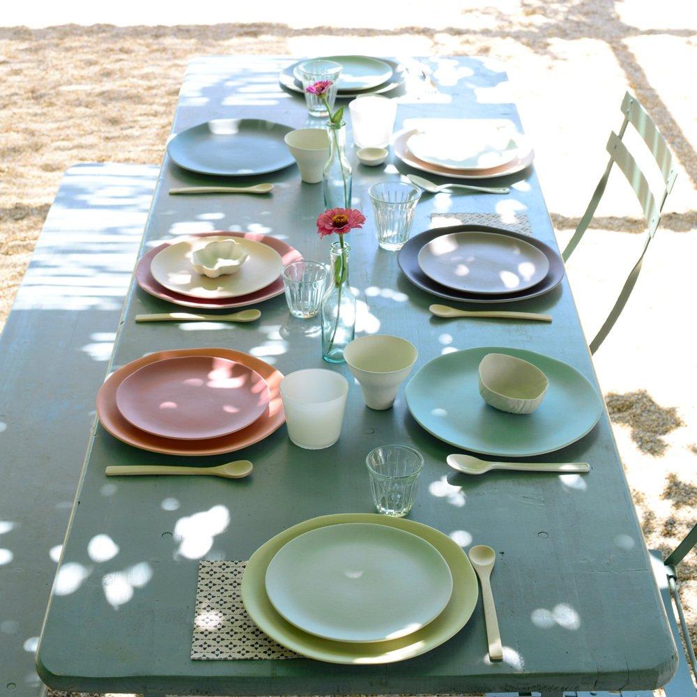 Assiette Plate C Ramique Jardin De Maguelone Corail Jars