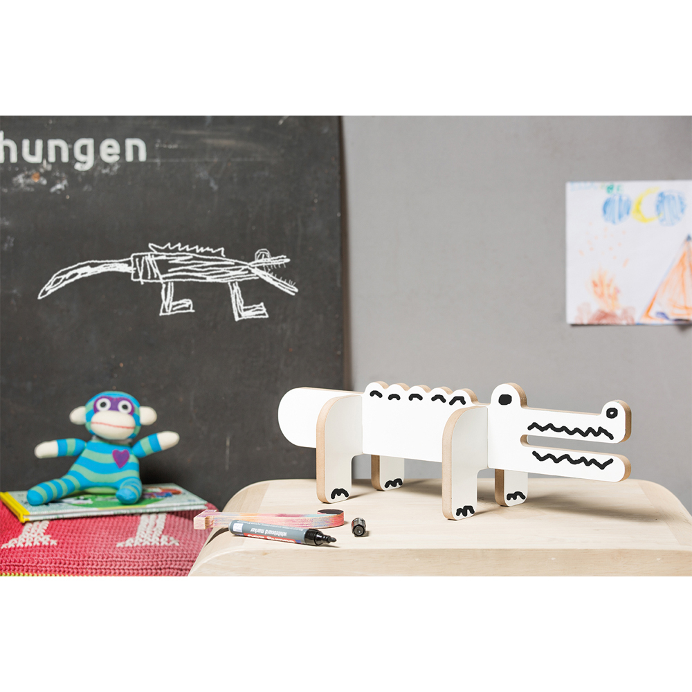 colour in wooden crocodile white donkey products toys and hobbies