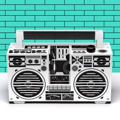 Berlin Boombox Ghetto blaster 3.0 speakers with USB port-listing