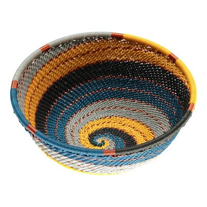 Mahatsara Shallow Recyled Thread Woven Basket-listing