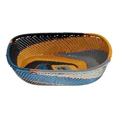 Mahatsara Flat Square Recycled Thread Woven Basket-listing
