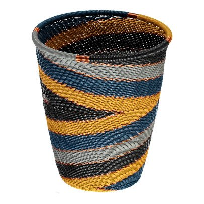 Mahatsara Cup Recycled Thread Woven Basket-listing