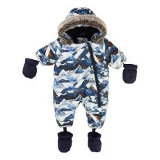 product-Timberland All-Over Print Hooded Snowsuit