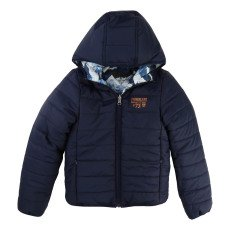 product-Timberland All-Over Print Reversible Hooded Jacket