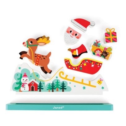 Janod Father Christmas' Sleigh Magnetic Puzzle-listing