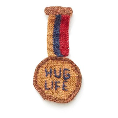 Oeuf NYC Brosche Medaille Hug Life -listing