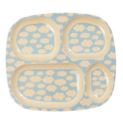 Rice Melamine Cloud Compartment Plate-listing