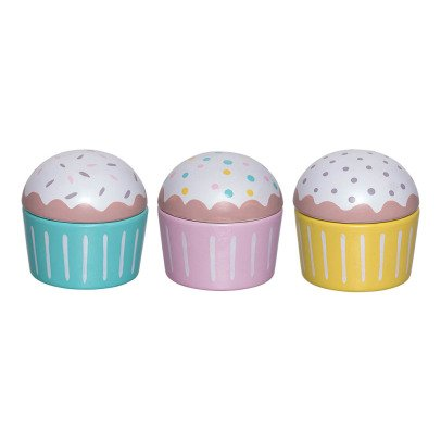 Bloomingville Kids Cupcakes in legno - Set da 3-product