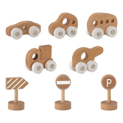 Bloomingville Kids Push-Along Cars & Accessories - Set of 8-listing