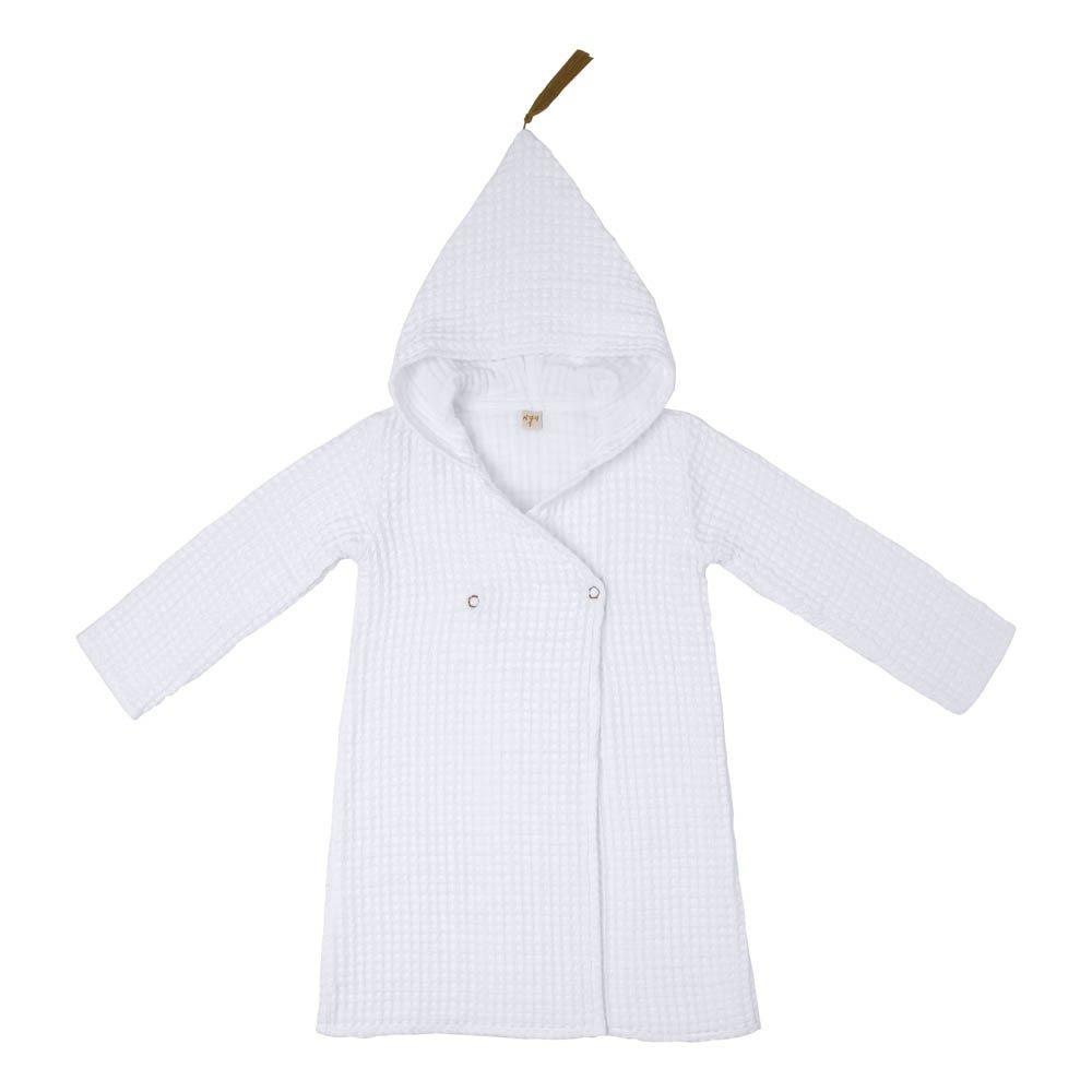 Children\'s Organic Cotton Dressing Gown White S001 Numero 74