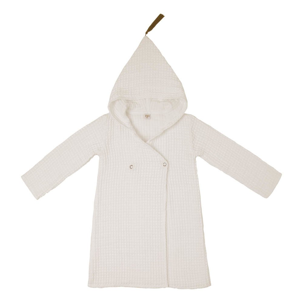 Children\'s Organic Cotton Dressing Gown Natural S000 Numero 74