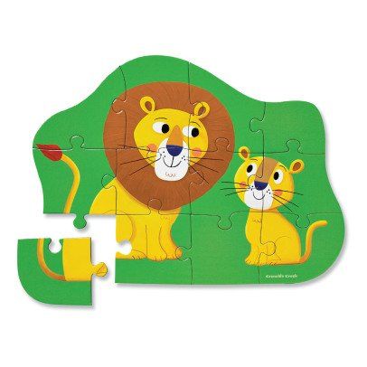 MudPuppy 12 Piece Lion Puzzle - 2 years and up-listing
