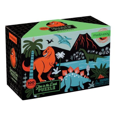 MudPuppy Phosphorescent 100 Piece Dinosaur Puzzle - 5 to 8 years old-listing