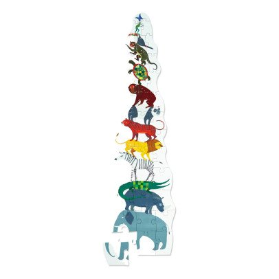 MudPuppy 12 Piece Jungle Animal Pyramid Puzzle - 3 years and up-listing