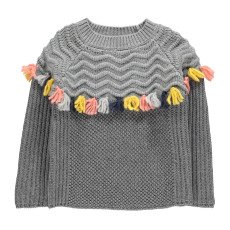 product-Stella McCartney Kids Tangerine Pompom Wool Jumper