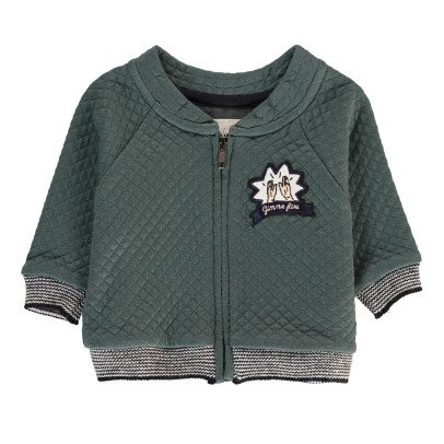 Blune Kids Quilted Zip-Up Hoodie-listing