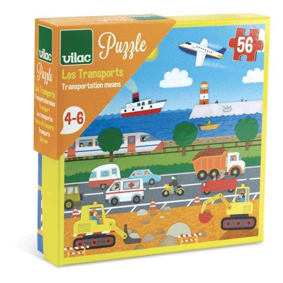 Vilac Transport Puzzle - 56 Pieces - from 4 years old-listing
