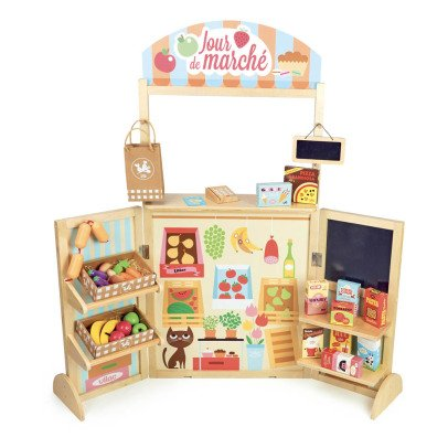 Vilac Wooden Market with 30 Accessories-listing