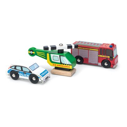 Le Toy Van Emergancy Vehicles - Set of 3-listing