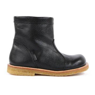 Boots Cuir Fourrées Zippées Tex