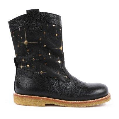 Boots Zippé Cuir Bicolore