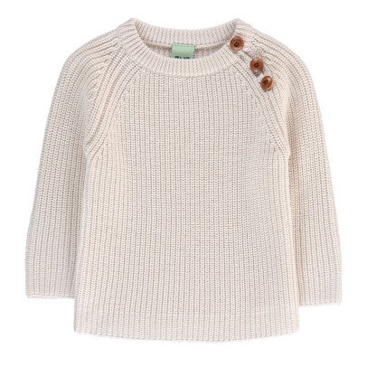 Fub Wool Ribbed Jumper With Buttons-listing
