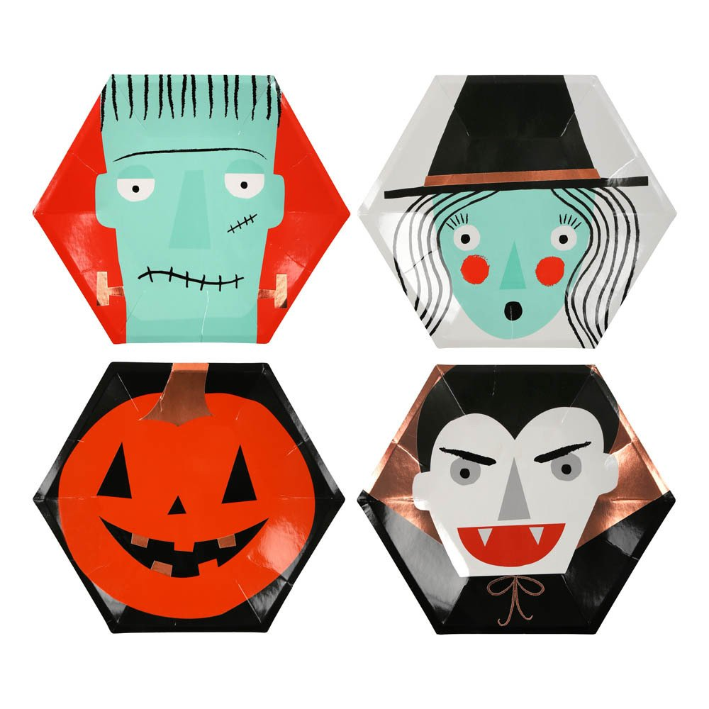 Assiettes en carton Halloween - Set de 8-product