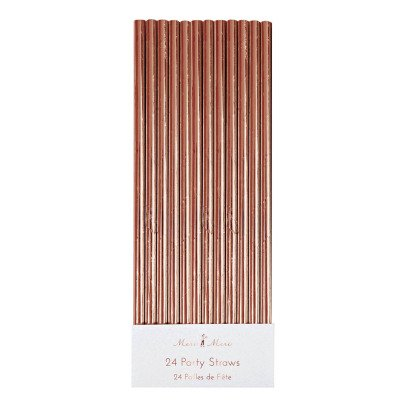 Meri Meri Rose Gold Paper Straws - Set of 24-listing