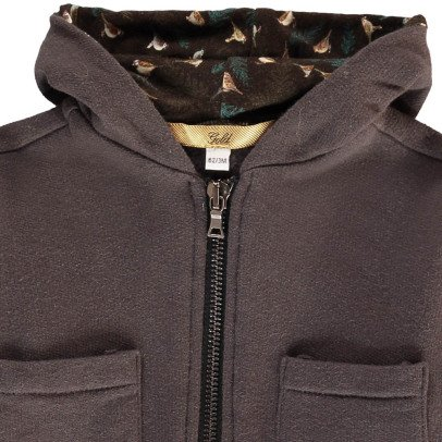 Gold Verico Bird Lined Zip-Up Hoodie-listing