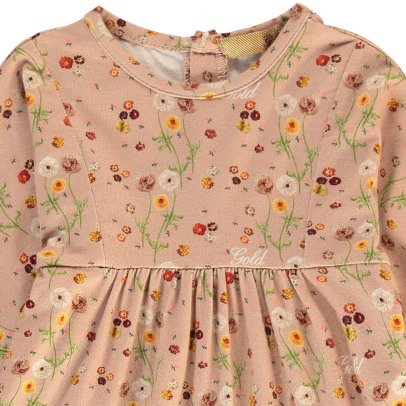 Gold Kiliq Floral Dress-listing
