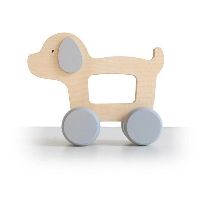 Briki Vroom Vroom Wooden Push-Along Dog-listing