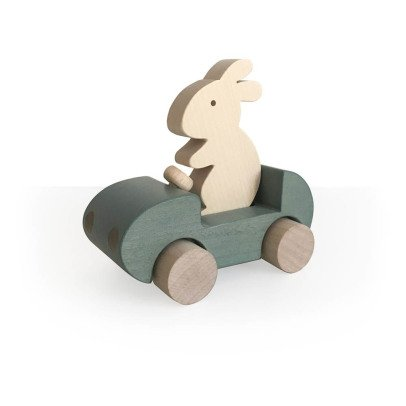 Briki Vroom Vroom Push-Along Wooden Rabbit Car-listing