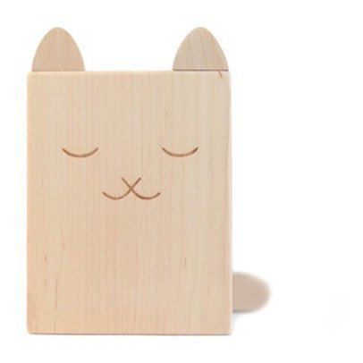 Briki Vroom Vroom Wooden Cat Pencil Pot-listing