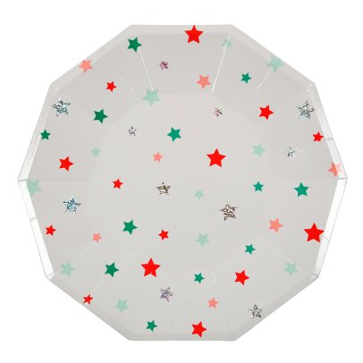 Meri Meri Star Paper Plates - Set of 8-product