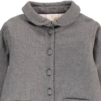 Louis Louise Claudie Lurex Wool Coat-listing