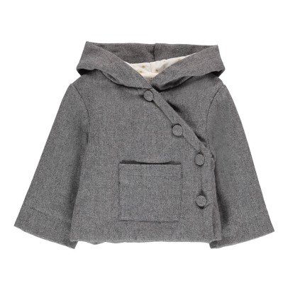 Louis Louise Ice Cream Lurex Wool Coat-listing