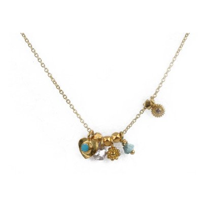 5 OCTOBRE Loop Necklace in Turquoise and 24K Gold-Plated Silver M3bmXWLVm