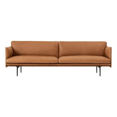 Muuto Outline Leather 3 Seat Sofa-listing