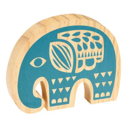 Rex Elefante decoratp in legno Folk animals-listing