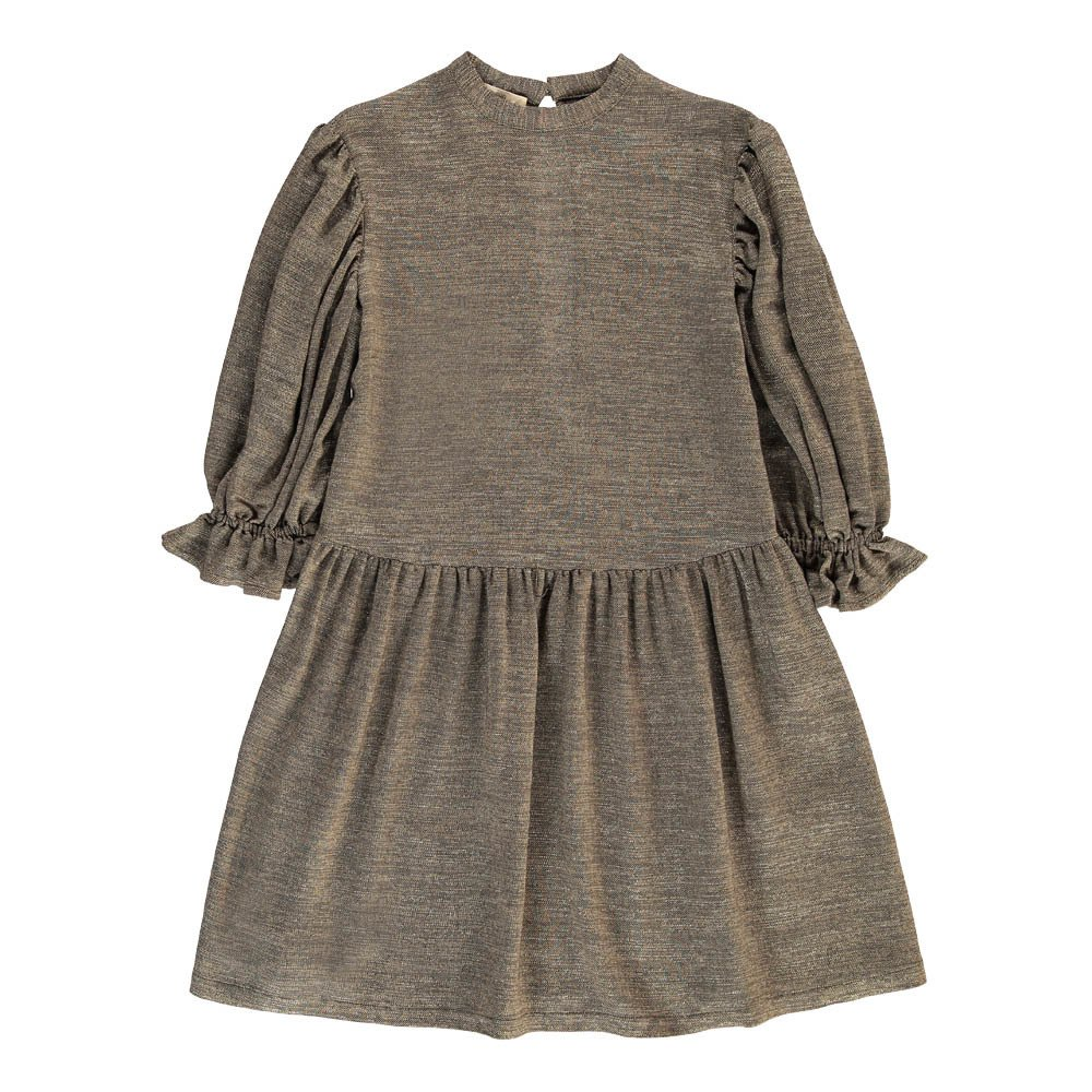 Kleid Lurex Ruby Khaki Sessun Mode Erwachsene