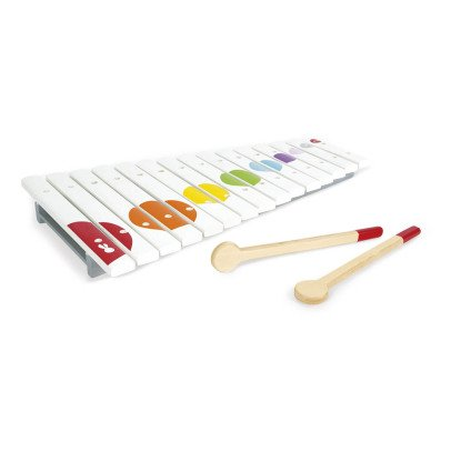 Janod Confetti Wooden Xylophone with 2 sticks-listing