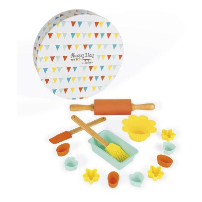 Janod Baking Kit - Set of 14 Wooden and Silicone Accessories-listing