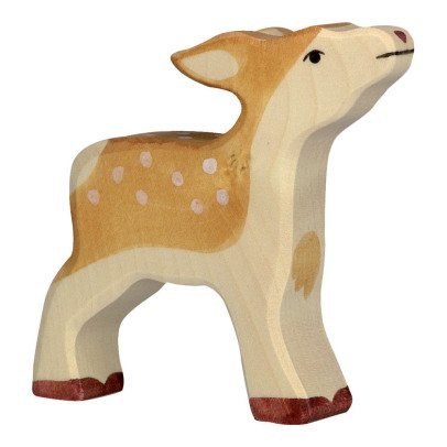 Holztiger Wooden Fawn Figurine-listing