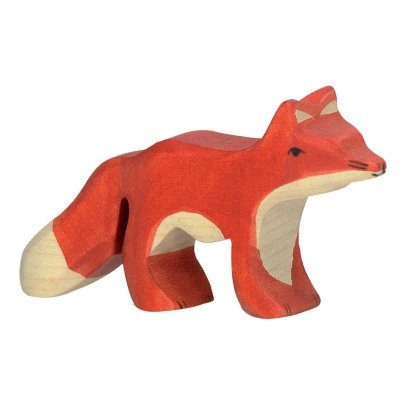 Holztiger Small Wooden Fox Figurine-listing